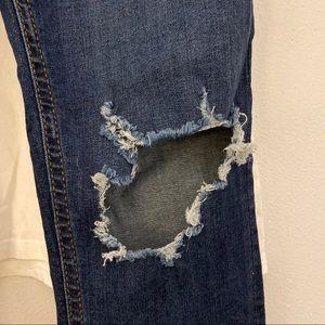 Free People Jeans - Free People Busted Knee Skinny Jeans